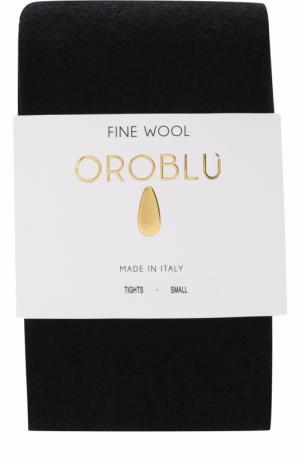 Однотонные колготки из смеси шерсти и хлопка Oroblu. Цвет: черный