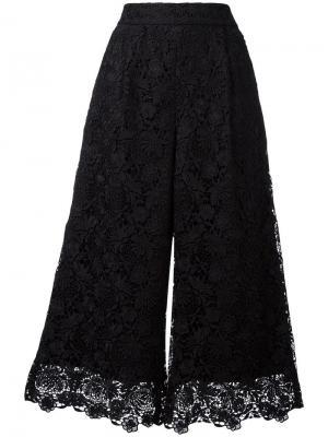 Укороченные кружевные брюки Dvf Diane Von Furstenberg. Цвет: чёрный
