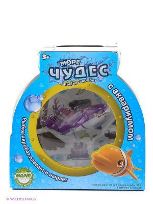 Набор Акула Акробат Тайгер с Аквариумом Море Чудес. Цвет: темно-фиолетовый, прозрачный