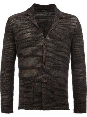 Кардиган свободной вязки Roberto Collina. Цвет: коричневый