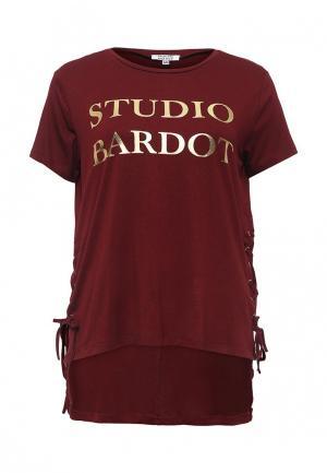 Футболка Brigitte Bardot. Цвет: бордовый