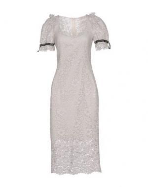 Платье длиной 3/4 TENAX. Цвет: светло-серый
