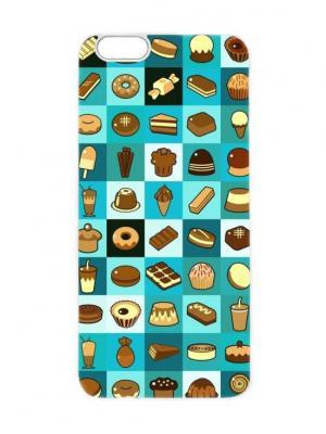 Чехол для iPhone 6 Принт со сладостями Chocopony. Цвет: бирюзовый, темно-синий, темно-зеленый