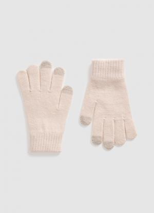 Перчатки с пальцами Touch Screen OSTIN. Цвет: светло-розовый