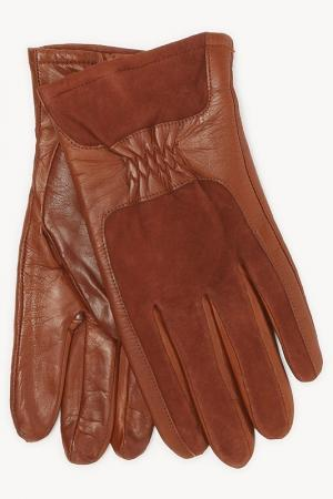 Перчатки Eleganzza. Цвет: коньячный