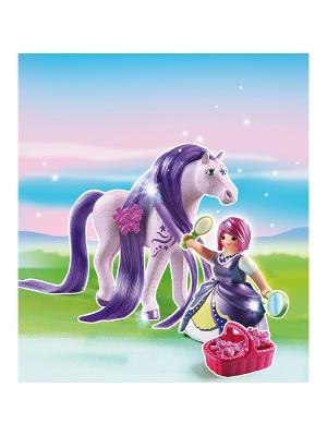 Принцессы: Принцесса Виола с Лошадкой Playmobil. Цвет: фиолетовый