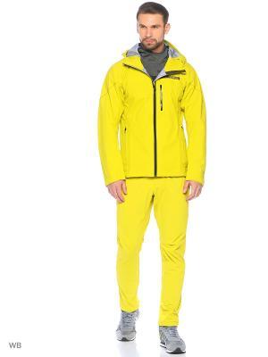 Куртка Terrex Fast R GTX Active Shell Rainjacket Adidas. Цвет: желтый, черный