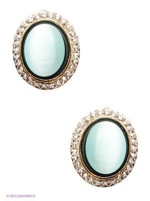 Серьги Royal Diamond. Цвет: голубой, золотистый