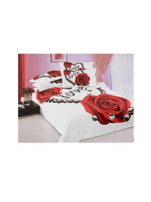 Комплект постельного белья 6 предметов HAMRAN. Цвет: белый, красный, черный
