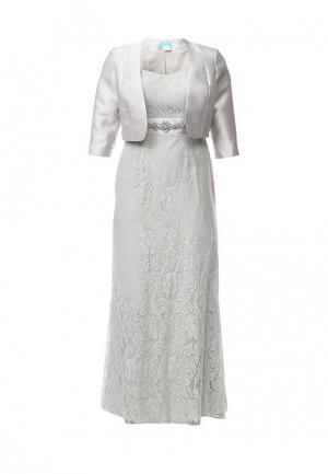 Платье To be Bride. Цвет: серый