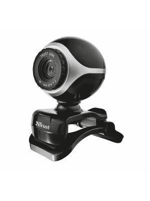 Веб-камера Trust Exis Webcam Black/Silver. Цвет: серебристый