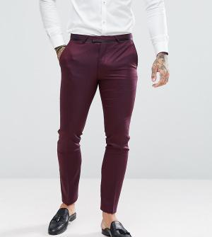 Noose & Monkey Фактурные супероблегающие брюки. Цвет: красный