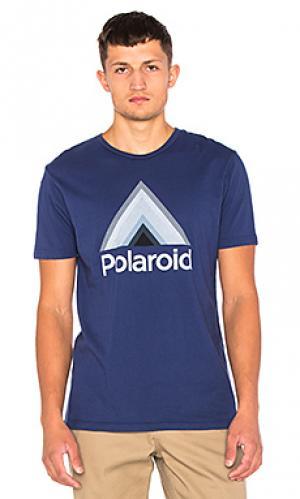 Футболка x polaroid triangle Altru. Цвет: синий