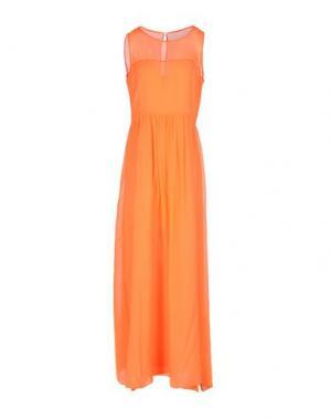Длинное платье FABRIZIO LENZI. Цвет: оранжевый