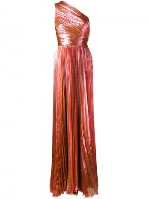 Вечернее платье Metallic на одно плечо Maria Lucia Hohan. Цвет: розовый и фиолетовый