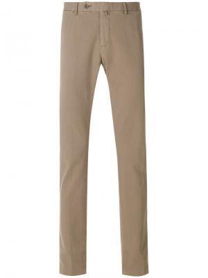 Прямые брюки Hackett. Цвет: телесный