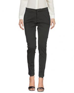 Повседневные брюки TAKUTEA. Цвет: темно-зеленый