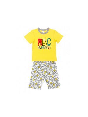 Пижама Модамини. Цвет: желтый, серый