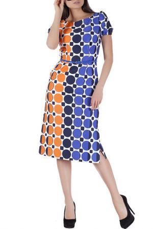 Платье Mannon. Цвет: сине-оранжевый