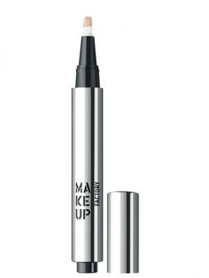 Светоотражающий консилер т3 песочный Make up factory. Цвет: бежевый