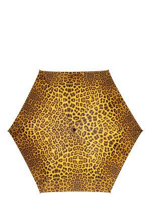 Зонт Labbra. Цвет: темно-коричневый, желтый