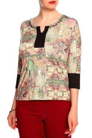 Блуза Elisa Fanti. Цвет: серый, зеленый