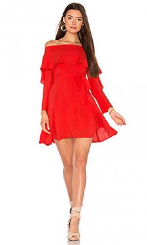 Платье со спущенными плечами raquel Line & Dot. Цвет: оранжевый