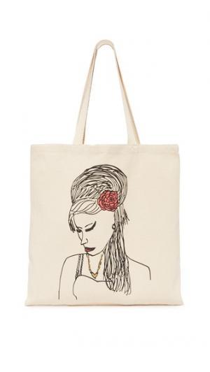 Объемная сумка с короткими ручками Amy Zhuu