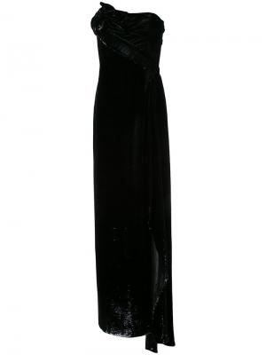 Длинное платье-бюстье Rubin Singer. Цвет: чёрный