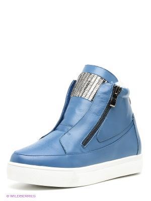 Ботинки Strange. Цвет: синий