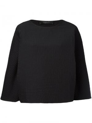 Текстурированная блузка Federica Tosi. Цвет: чёрный