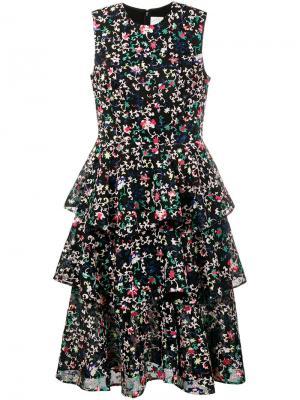 Платье Vivien Huishan Zhang. Цвет: чёрный