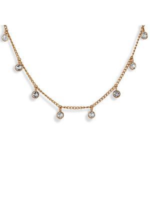 Колье Sensuelle  с кристаллами Swarovski в золоте Mademoiselle Jolie Paris. Цвет: прозрачный, золотистый
