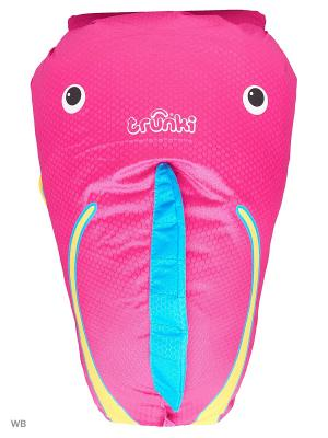 Рюкзак для бассейна и пляжа Коралловая рыбка TRUNKI. Цвет: голубой, розовый, желтый