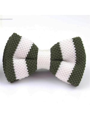 Галстук-бабочка Churchill accessories. Цвет: белый, зеленый