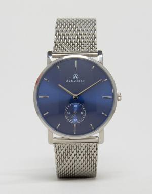 Accurist Часы с сетчатым ремешком. Цвет: серебряный