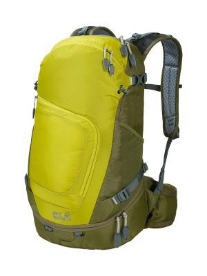 Рюкзак CROSSER 26 PACK Jack Wolfskin. Цвет: хаки, желтый