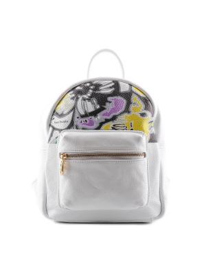 Рюкзак SARA BURGLAR. Цвет: белый, желтый, фиолетовый