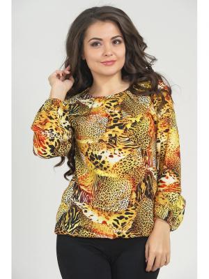 Блузка LIORA. Цвет: желтый