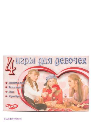 Настольная игра 4 игры для девочек DREAM MAKERS. Цвет: розовый