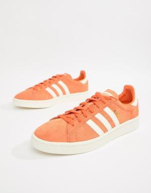 Adidas Originals Оранжевые кроссовки Campus CQ2078. Цвет: оранжевый