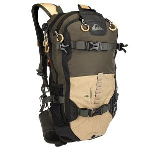 Рюкзак туристический  Oxydized Tailor Forest Night Quiksilver. Цвет: черный,бежевый,зеленый