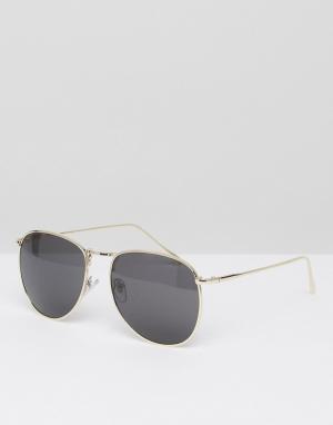 Jeepers Peepers Круглые солнцезащитные очки. Цвет: золотой