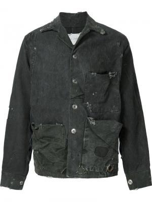 Куртка с рабочем стиле Greg Lauren. Цвет: серый