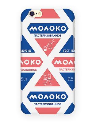 Чехол для IPhone 6 Молоко Mitya Veselkov. Цвет: синий, красный