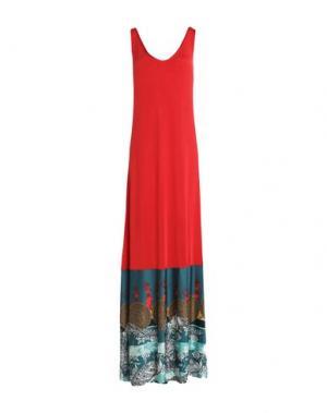 Длинное платье F**K PROJECT. Цвет: красный