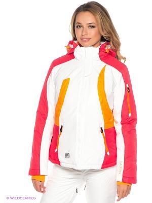Куртка Baon. Цвет: белый, красный, желтый