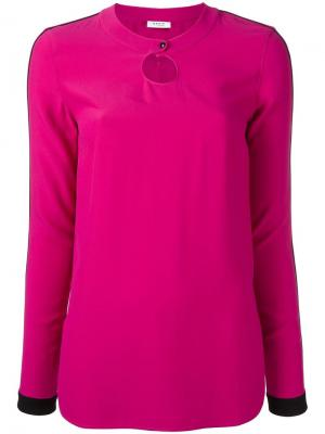 Блузка с круглым вырезом Akris Punto. Цвет: розовый и фиолетовый
