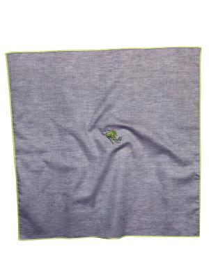 Платок 100% х/б 50*50 Passigatti. Цвет: зеленый, серо-голубой