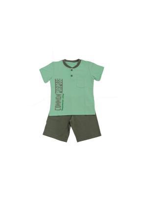 Комплект одежды РОССИЙСКИЙ ТРИКОТАЖ. Цвет: серый, бирюзовый